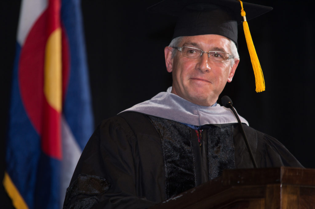 Dr. Mark Stetter in graduation gown