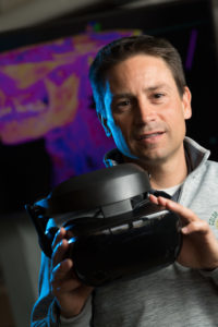Tod Clapp, Assistant Professor of Biomedical Sciences in lab of the Human Virtual Reality Project.