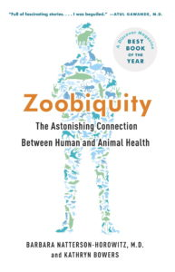 cover of Zoobiquity book: shape of a human made up of drawings of animals