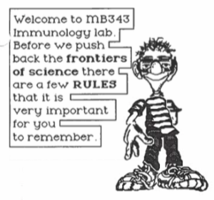 page from lab manual created by Ian Orme