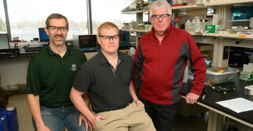 researchers Chuck Henry, Brian Geiss and David Dandy