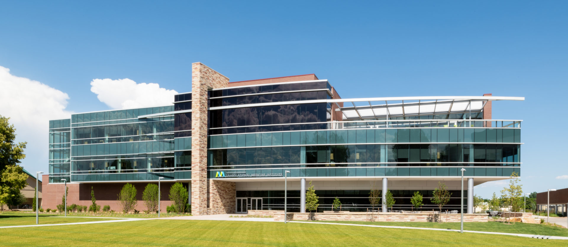 The front of the Translational Medicine Institute Building at CSU