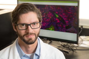 Brendan Podell, a researcher who studies tuberculosis
