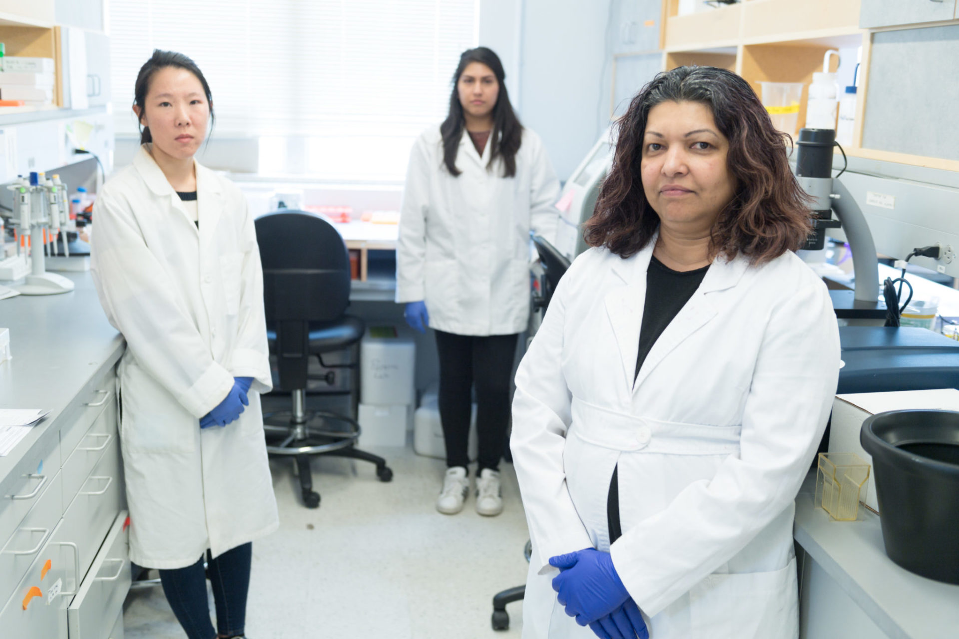 A CSU research team in the lab, led by Rushika Perera