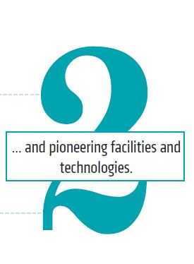 2. and pioneering facilities and technologies