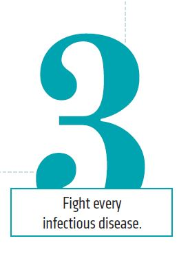 3. Fight every infectious disease