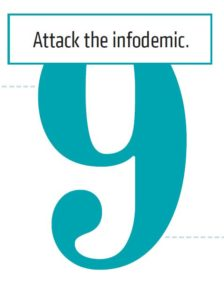9. Attack the infodemic.
