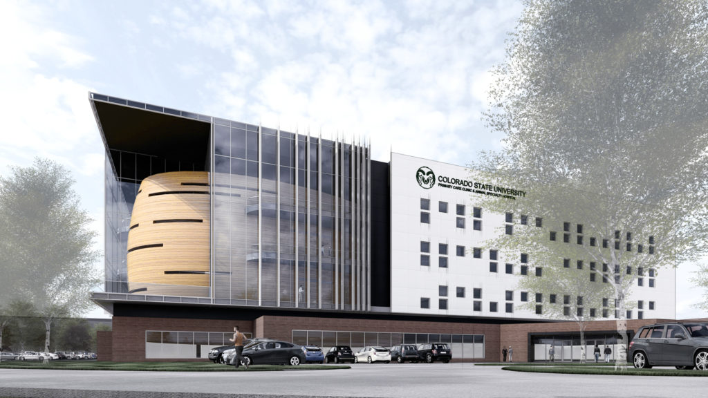 rendering of the CSU Primary Care Clinic