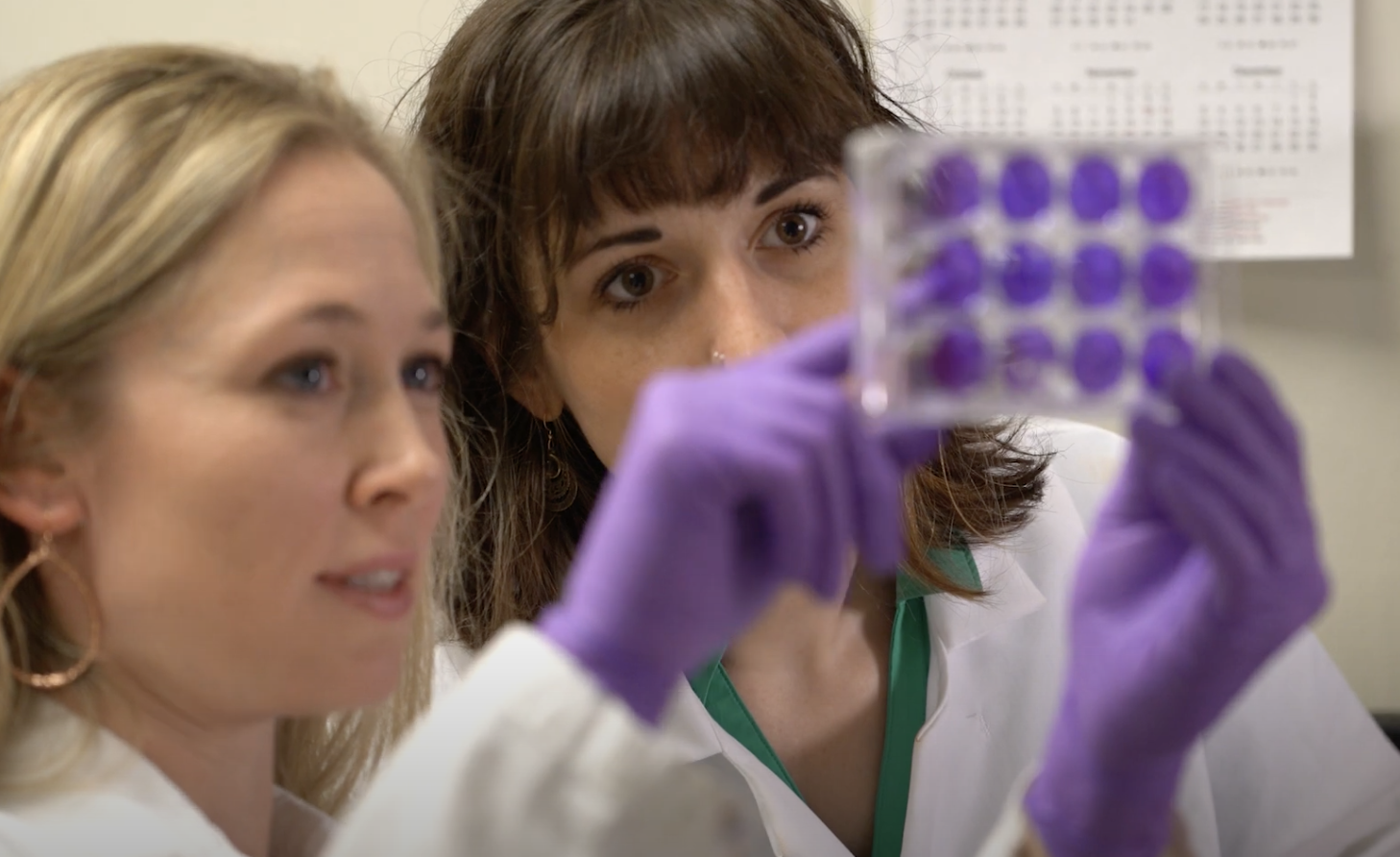Rebekah Kading and Anna Fagre in the lab at CSU
