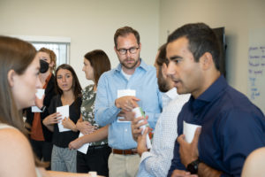 CU medical students take part in an ice breaker activity on their first day