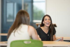 Elizabeth Garcia-Creighton on her first day of medical school