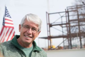Dr. Mark Stetter on a construction site