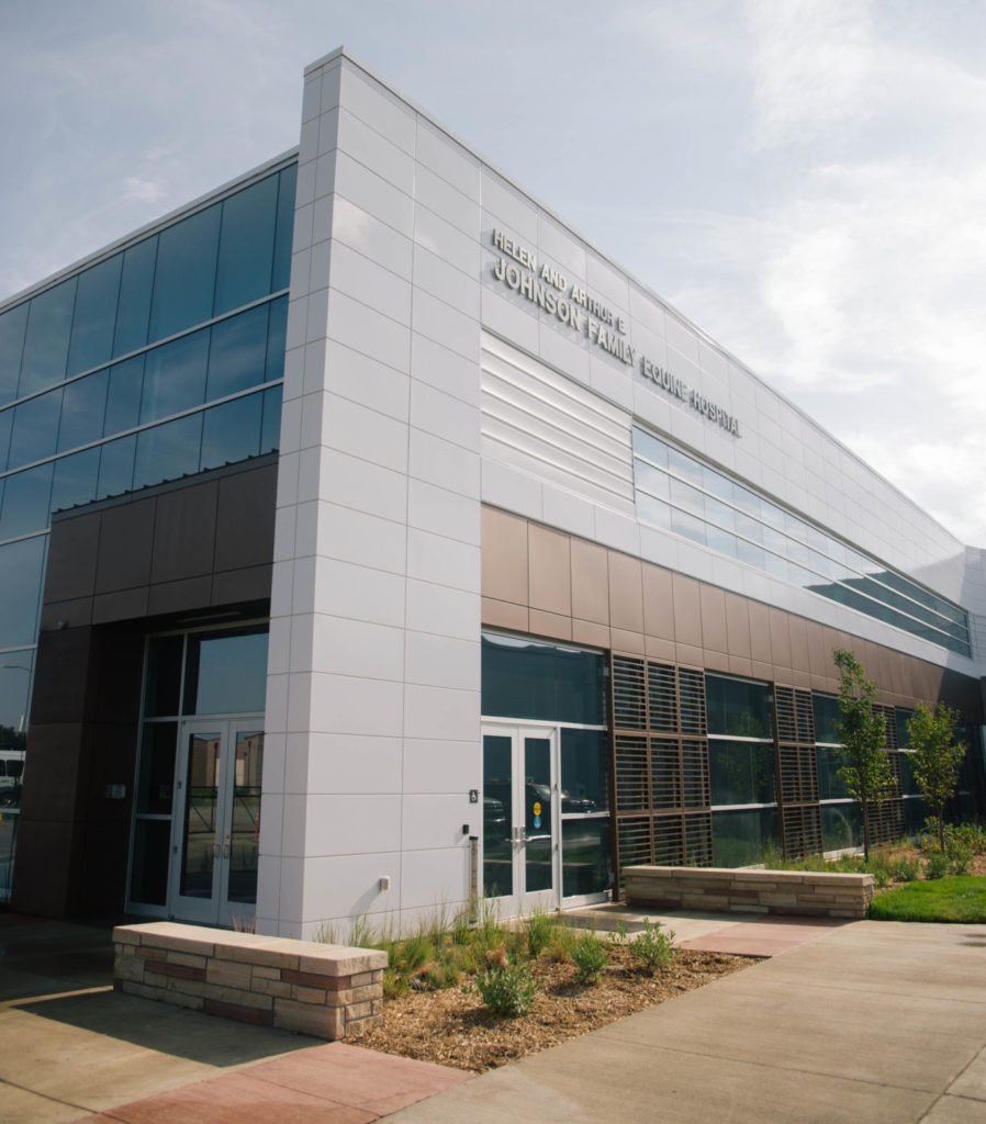 Johnson Family Equine Hospital building exterior